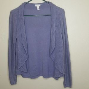 1 Chico's Purple Cascade Open Sweater Cardigan